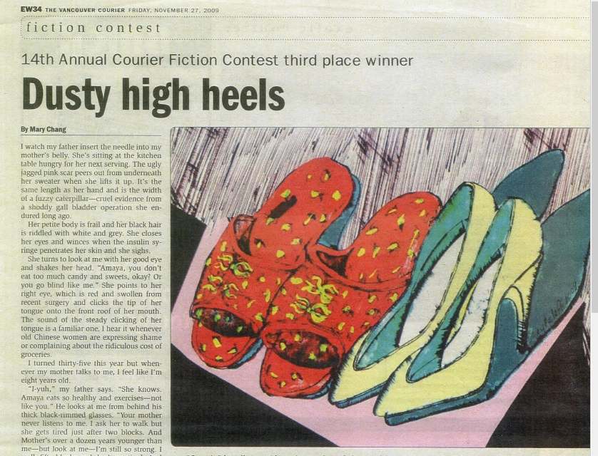 DustyHighHeelsVancouverCourierNewspaperClipping